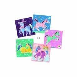 loisir créatif djeco - pochoirs - chevaux - les petits cadeaux - djéco