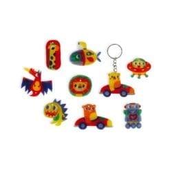 loisir créatif - plastique fou magnets et porte-cles
