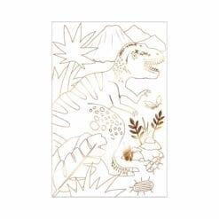 loisir créatif - set de 2 posters à colorier - dinosaures - méri méri