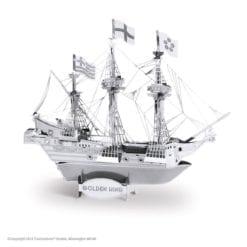 maquette métal earth 12-14 ans - bateau golden hind - métal earth