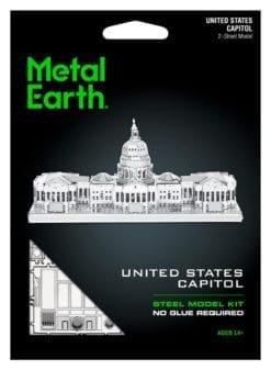 maquette métal earth 12-14 ans - us capitol - métal earth