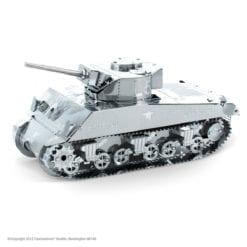 maquette métal earth 12-14 ans - char de combat sherman tank 7 - métal earth