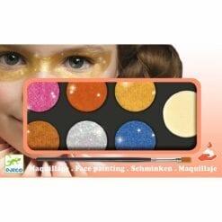 maquillage djeco - palette de 6 couleurs effet métal - design by - djéco