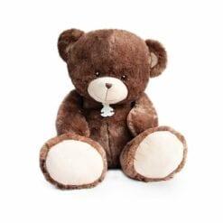 peluche ours bellydou marron - 90 cm - histoire d'ours