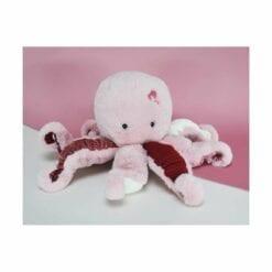 peluche pieuvre rose - 30 cm - histoire d'ours