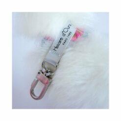 peluche porte clés lama blanc - 16 cm - histoire d'ours