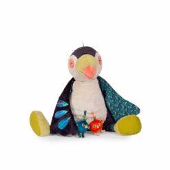 peluche toucan géant d'activités - dans la jungle - moulin roty - la maison de zazou