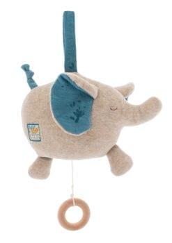 poupée musicale bébé - eléphant - sous mon baobab - moulin roty