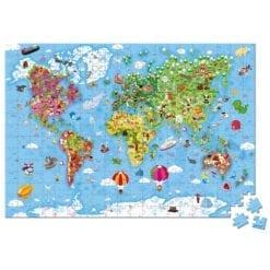 puzzle 300 pièces - géant du monde - janod