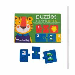 puzzle chiffres - 30 pièces  - les popipop - moulin roty - la maison de zazou