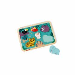 puzzle - chunky puzzle jungle - en bois certifié fsc - janod - la maison de zazou