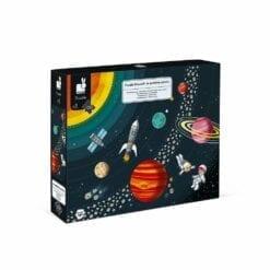 puzzle éducatif - systeme solaire - 100 pcs -puzzles en carton - janod