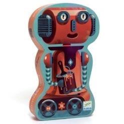 puzzle encastrement - silhouette - bob le robot 36 pièces - djéco