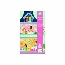 puzzle géant 36 pièces - la tour des princesses - puzzles - djéco
