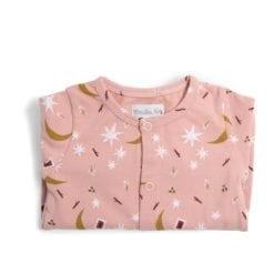 Pyjama bébé - 12m jersey rose étoiles - Après la pluie - Moulin Roty
