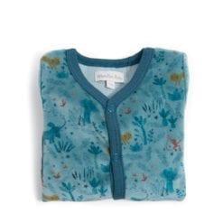 Pyjama bébé - 12m velours bleu nuit - Sous mon baobab - Moulin Roty