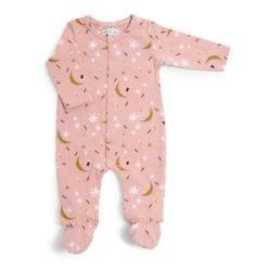 Pyjama bébé - 1m jersey rose étoiles - Après la pluie - Moulin Roty