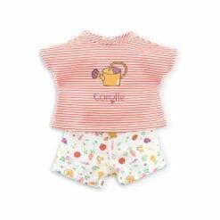 short et t-shirt pour poupée ma corolle -  36 cm - la fête du potager - corolle