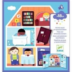 stickers enfant djeco - pour les petits - la maison - design by - djéco