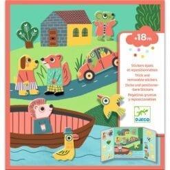 stickers enfant djeco - pour les petits - les animaux - design by - djéco