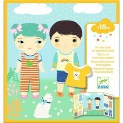 stickers enfant djeco - pour les petits - les habits - design by - djéco