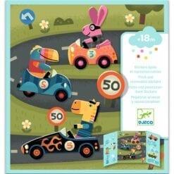 stickers enfant djeco - pour les petits - les voitures - design by - djéco