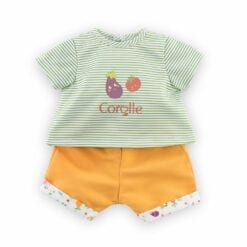 t-shirt et bermuda pour bébé corolle - 36 cm - la fête du potager - corolle