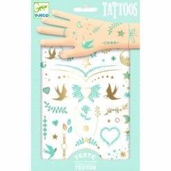 tatouages enfant djeco - les bijoux de lily - design by - djéco