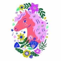 tatouages enfant djeco - poétic horse - djéco