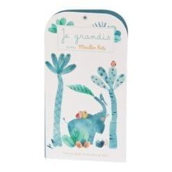 Toise en carton - carnet - Sous mon baobab - Moulin Roty